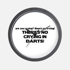 There's No Crying in Darts Wall Clock