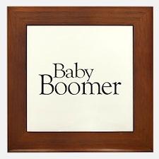 Baby Boomer Framed Tile