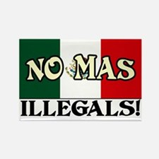"""""""No More Illegals!"""" Rectangle Magnet"""