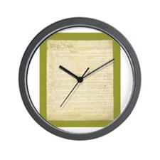 The Us Constitution Wall Clock