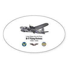 B-17 Flying Fortress T-shirts Oval Decal