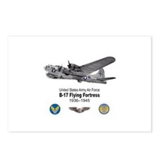B-17 Flying Fortress T-shirts Postcards (Package o