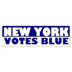 New York Votes Blue bumper sticker