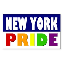 New York Gay Pride Bumper Decal