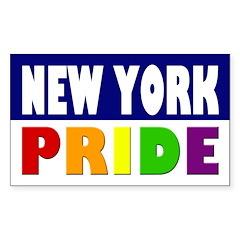 New York Gay Pride Bumper Decal