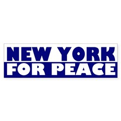 New York for Peace (bumper sticker)