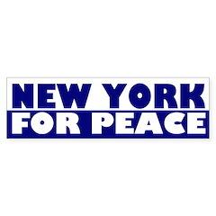 New York for Peace (bumper sticker)
