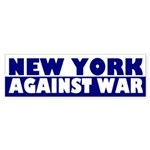 New York Against War bumper sticker