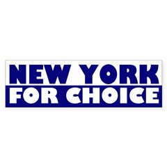New York for Choice (bumper sticker)