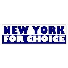 New York for Choice (bumper sticker)