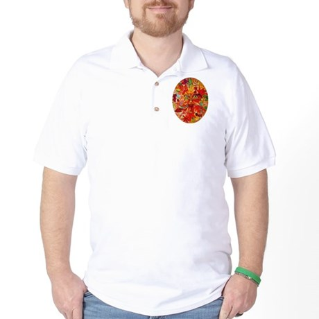 Green Man Festive Halloween Adult Golf Shirt