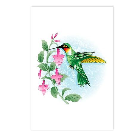 FUCIA HUMMINGBIRD Postcards (Package of 8)