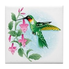 FUCIA HUMMINGBIRD Tile Coaster