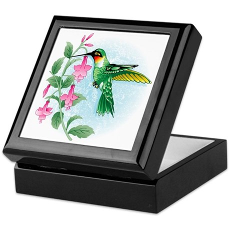 FUCIA HUMMINGBIRD Keepsake Box