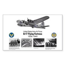 B-17 Commemorative Rectangle Decal