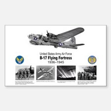 B-17 Commemorative Rectangle Decal