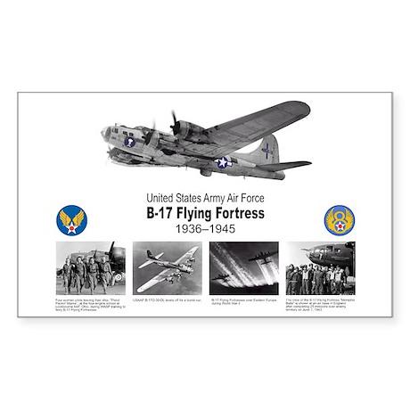 B-17 Commemorative Rectangle Sticker