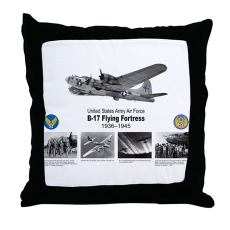 B-17 Commemorative Throw Pillow