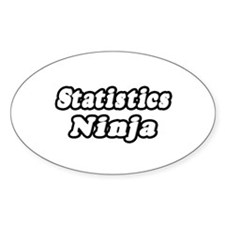 """Statistics Ninja"" Oval Decal"