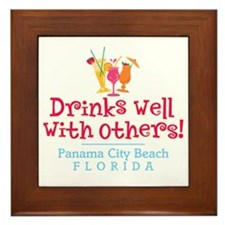 Drinks Well With Others - Framed Tile