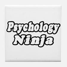 """Psychology Ninja"" Tile Coaster"