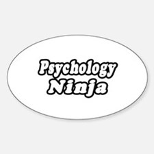 """Psychology Ninja"" Oval Decal"