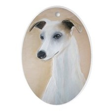 """""""Lilyth"""" a Whippet Oval Ornament"""