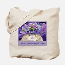 Priscilla CAT Prefers Purple Tote Bag