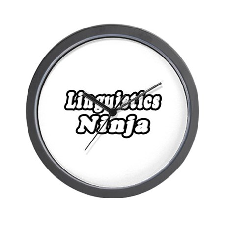 """Linguistics Ninja"" Wall Clock"