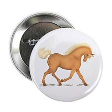 """Palomino Horse Pony 2.25"""" Button"""