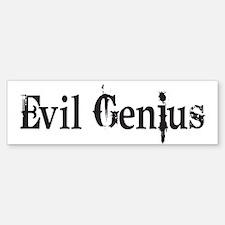 Evil Genius Bumper Car Car Sticker