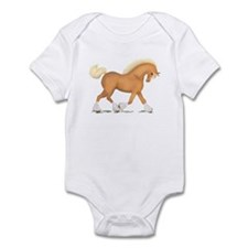 Palomino Clydesdale Horse Infant Bodysuit