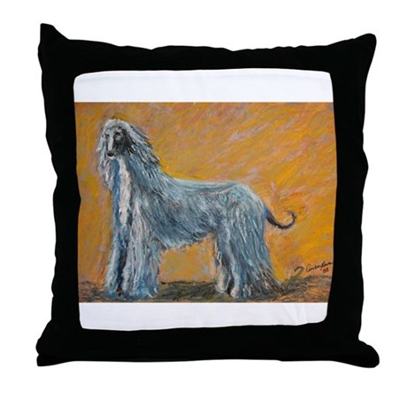 """Midnight"" a Afghan Hound Throw Pillow"