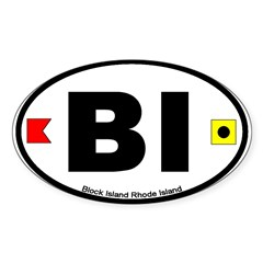 Block Island Oval Oval Sticker (10 pk)