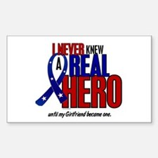 Never Knew A Hero 2 Military (Girlfriend) Decal