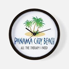 Panama City Beach Therapy - Wall Clock