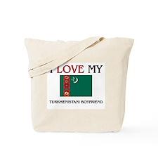 I Love My Turkmenistani Boyfriend Tote Bag