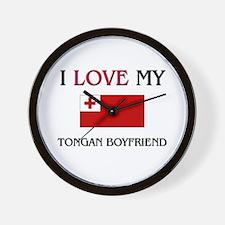 I Love My Tongan Boyfriend Wall Clock