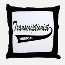TRANSCRIPTIONIST Throw Pillow