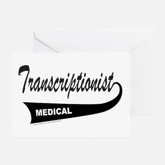 TRANSCRIPTIONIST Greeting Card