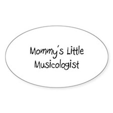 Mommy's Little Musicologist Oval Decal