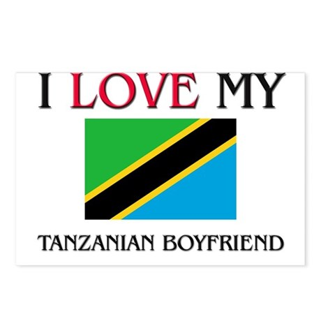 I Love My Tanzanian Boyfriend Postcards (Package o
