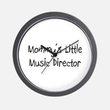 Mommy's Little Music Director Wall Clock
