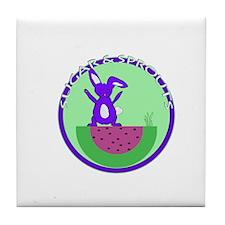 Peekaboo Bunny Tile Coaster