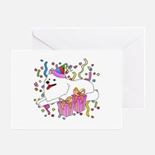 Samoyed Party Greeting Card