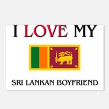 I Love My Sri Lankan Boyfriend Postcards (Package