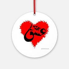 Eshgh and Love in a heart Ornament (Round)