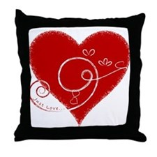 Eshgh (Love in Persian) Throw Pillow