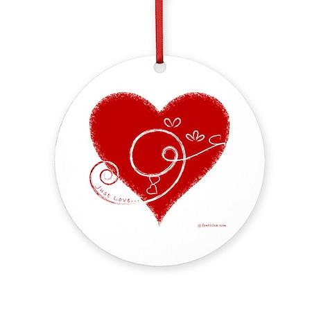 Eshgh (Love in Persian) Ornament (Round)