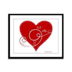Eshgh (Love in Persian) Framed Panel Print